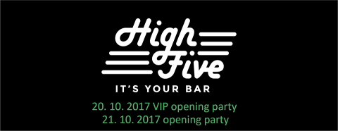 10/21 High five! – New Bar Opens in Brno City Center