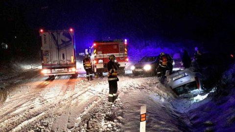 Adverse weather behind 200 accidents in South Moravia in one day