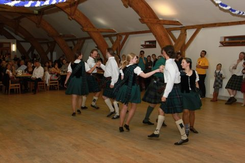 Ceilidh: also known as Scottish Dancing or jumping around