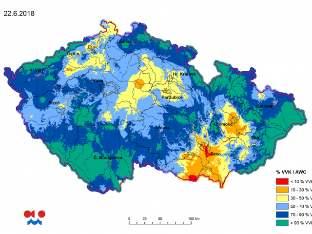 Drought: a serious long-term risk to South Moravia's ecosystem and agriculture