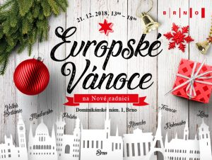 "21/12 ""European Christmas"" at Brno New Town Hall, with a Program for Children and a Food Collection"