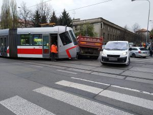 Collision Between Tram and Truck On Štefánikova