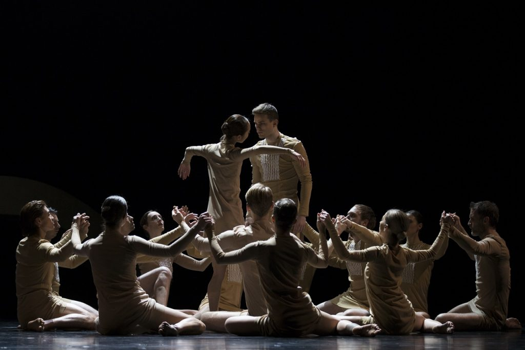 "Ballet of the Slovenian National Theatre performing ""Hora"". Photo: Courtesy of NdB."