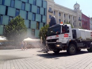 Brno's City Center Streets to be Cooled by Sprinkling Water
