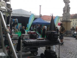 Movie Shooting & Free Concert at Zelny Trh Today