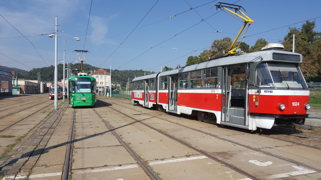 Tram depot Pisárky Sep 2018.