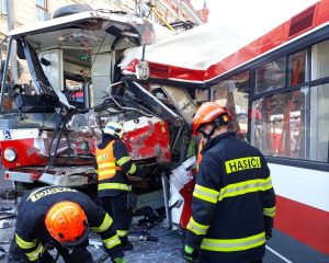 Last April's Tram and Trolleybus Crash on Masná Due To Technical Fault, Say Police