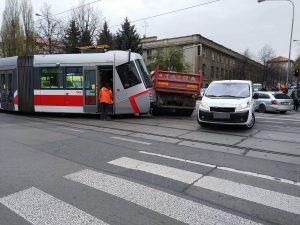 Collision Between Tram and Truck On Štefánikova