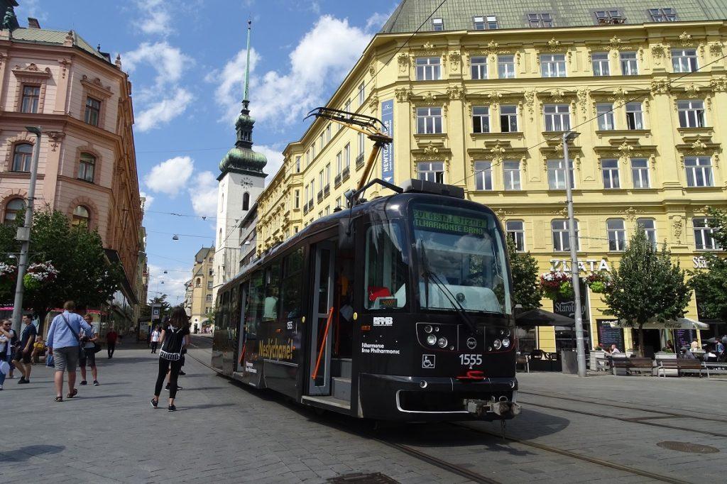 In Photos: Brno Philharmonic Orchestra Tram Passes Through Brno's Center