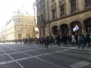 In Photos: Brno Students hold Biggest Protest yet against Climate Change