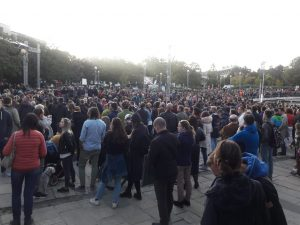 4,000 Gather In Bratislava's Námestie Slobody To Protest Against Recent Corruption Allegations