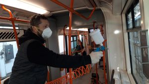Trial of Anti-Bacterial Spray On Brno Trams To Prevent Spread of Infections