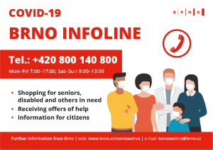 City of Brno's Covid-19 Information Hotline To Be Expanded Due To High Public Demand