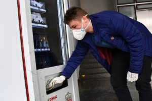 Vending Machines Selling Face Masks and Other Medical Equipment Installed Around Brno