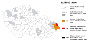 Czech Health Ministry Launches Map of Covid-19 Transmission Risk By District