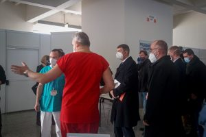 In Photos: Babis and Blatny Visit New Vaccination Centre In Brno