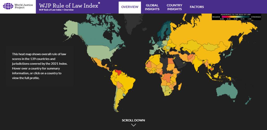 "Czech Republic Ranks 22 of 139 In The ""Rule Of Law"" Ranking"