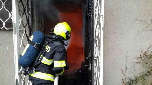 Fire in Brno-Bystrc