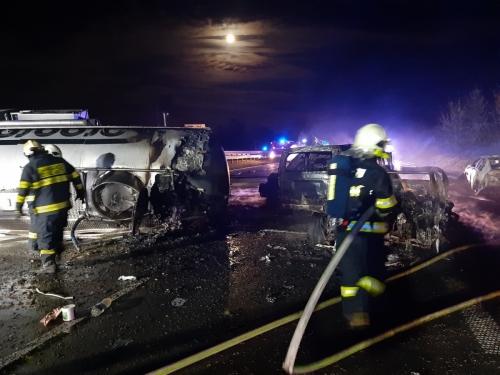 HZS Středočeského kraje - d1 highway prague brno incident 2