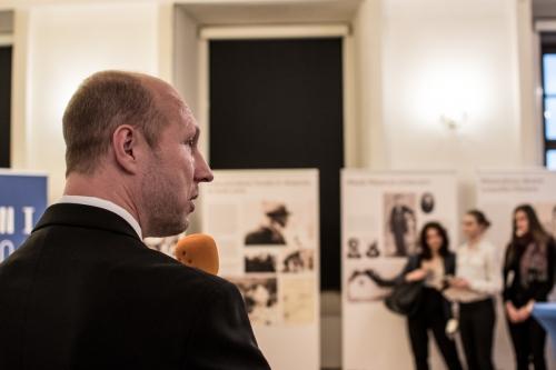 Dr. Robert Řehák, creator of the exhibition.
