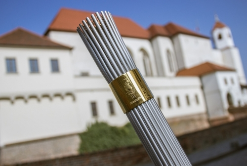 Olympic torch -Atlanta in Brno.